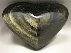 obsidiana dorada corazôn